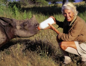 Jorie feeding rhino