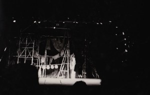 MB onstage as the Silver Indian, HAiR LA - 2