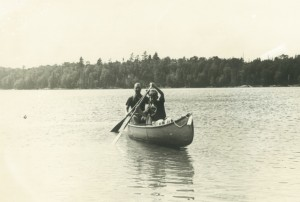 Paul and MB in boat in Canada