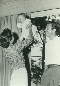 Stephanie and Efrem Zimbalist with baby - 1