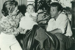 Stephanie and Efrem Zimbalist with baby - 2
