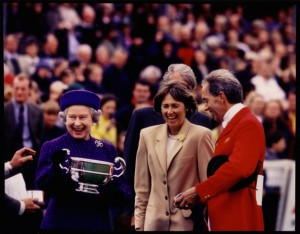 Queen Elizabeth presents Butler Cup at Badminton